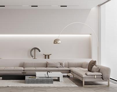 Living room with BAXTER furniture, PecherskPlaza, Kiev
