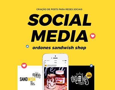 Ordones Sandwish Shop   Social Media