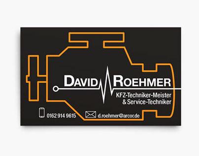 automotive business card - design