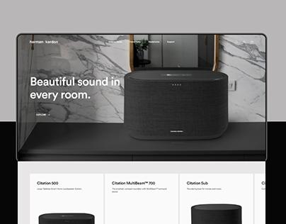 Harman Kardon — Website Concept 2020