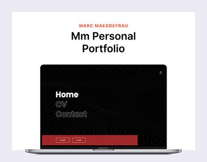 Mm Personal Portfolio — Website Design