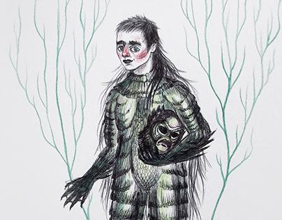 Drawlloween - Creature from the Black Lagoon