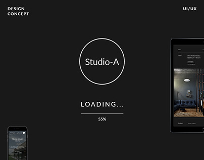 Studio Dark Website Concept