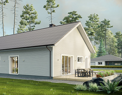 Finnish Houses Visualization Series. House №3