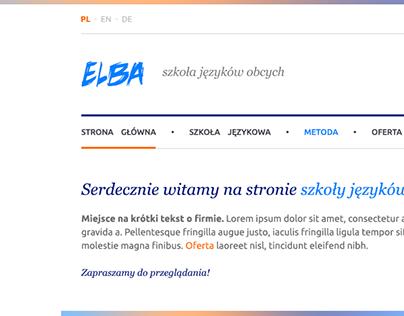 ELBA Szkola Jezykow Obcych - site redesign