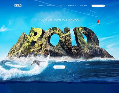 Bold Consultancy key visual & website design