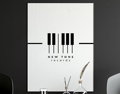NEW TONE records music studio logo design