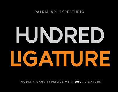 FREE   Hundred Ligatture Sans Serif