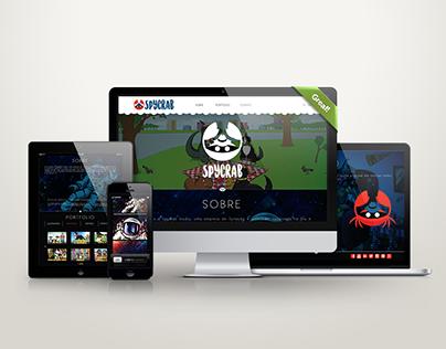 Layout Site SpyCrab Studio