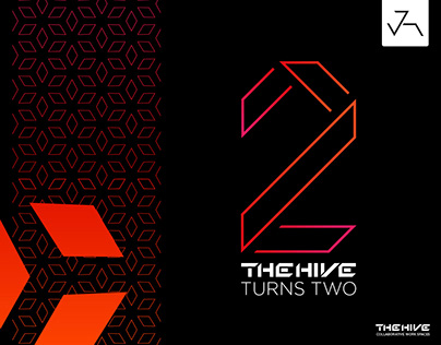 The Hive Turns Two (Logo-Poster) - Jensonart