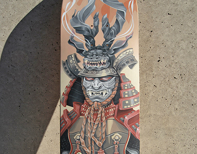 """Samurai"" acrylic on board"