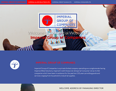Corporate Web Design for Imperial Group of Companies
