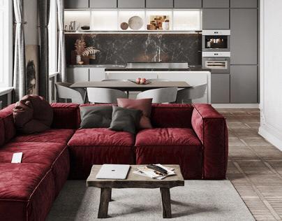 Apartment 65 m2. Saint Petersburg