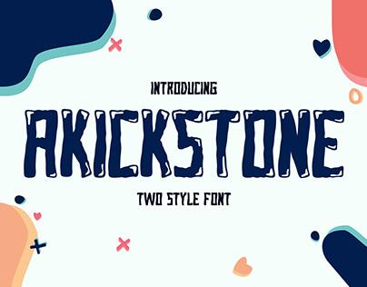 Font AKICKSTONE