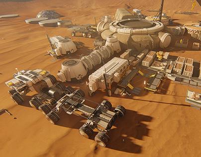 Mars Future Vision Interactive Display