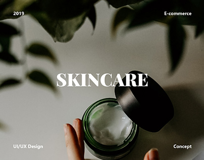 Online store for cosmetic brand (homepage)