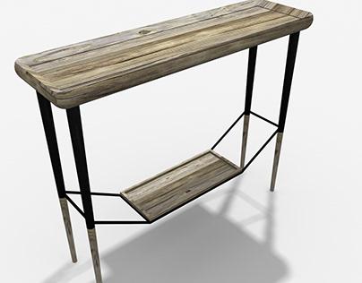 Reclaimed Wood Foyer Table