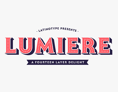 Lumiere font system
