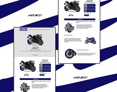 Yamaha R1m landing page web