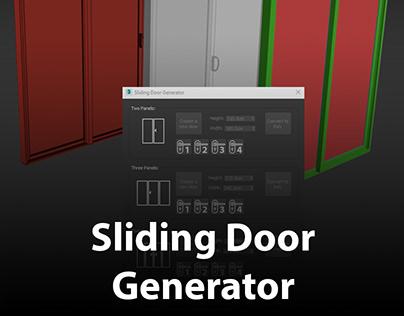 Sliding Door Generator | ArchvizTools