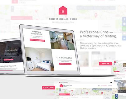 Real Estate Website for Professional Cribs (UK)
