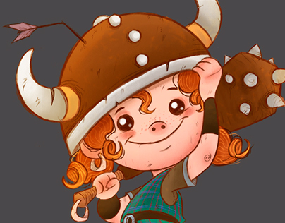 A Pequena Viking - Character Design
