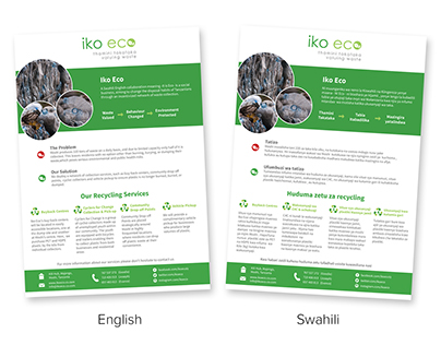 Iko Eco – printed materials
