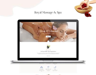 Latest Royal Spa & Massage Parlour Web UI | ThinkStart.