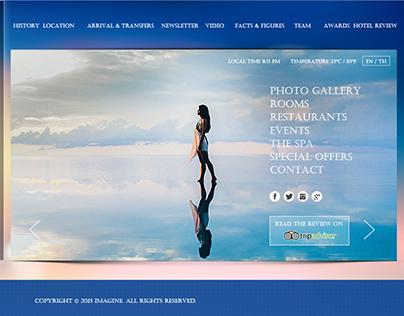 Demo Hotel website : homepage