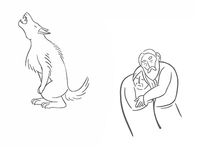 The walking of the wolf + The old couple
