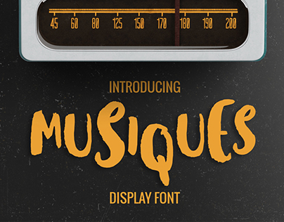 FREE Musiques Display Font