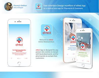Medical Store App - UX/UI design