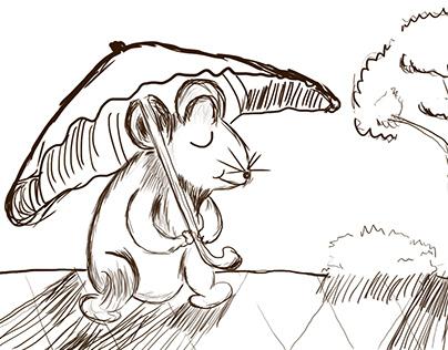 Vẽ tay truyện chuột sa hũ gạo