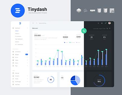 Tinydash – Clean Bootstrap Admin Template