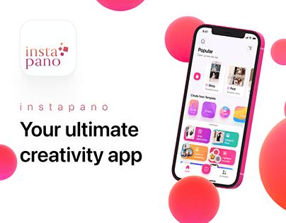 InstaPano App Templates Stories, Posts, Carousel Editor