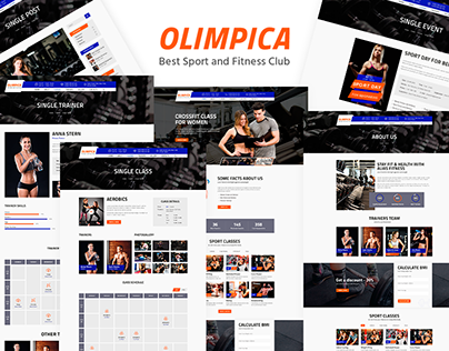 Olimpica - Gym, Crossfit and Fitness PSD Template