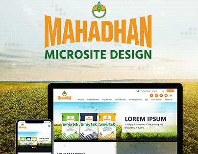 Mahadhan Smartek Microsite Design | Mahadhan