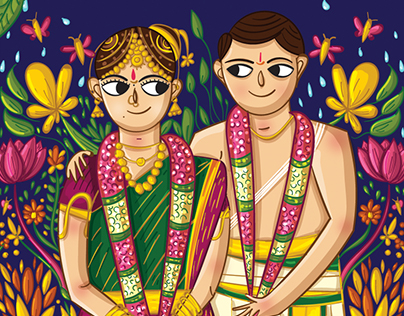 Indian Brides and Grooms' Wedding Invitation Designs