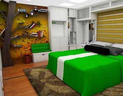 Apartamento pequeño con espacios Multifuncionales