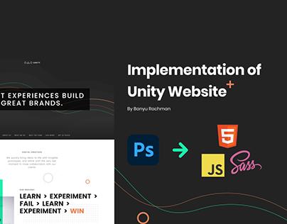 Unity Website