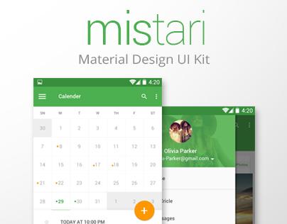 mistari Material Design Ui Kit