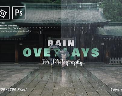 Rain Overlays for Photography