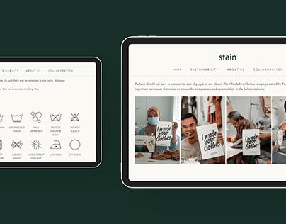 Stain — Website Development