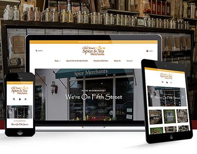 Old Town Spice & Tea Merchants   Website Design