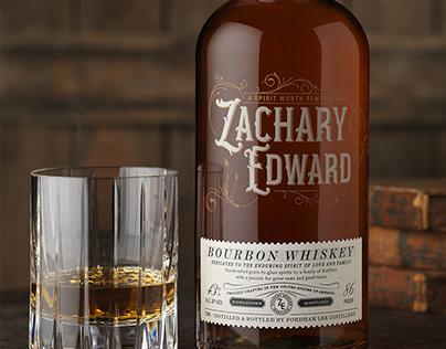Zachary Edward Bourbon Whiskey Packaging Design & Logo