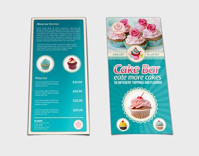 Cake Flyer Shop DL Size Template Vol.6
