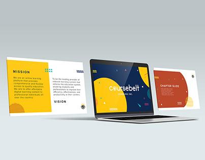 Coursebelt Presentation Design template