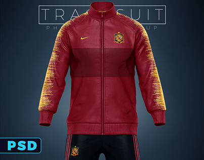 Sports Tracksuit jacket & Pants Mockup template