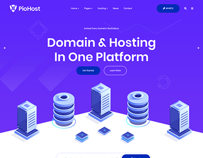 Piohost Domain Hosting Website By Html,Css,Bootstrap,js