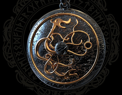 Viking jewelry pendant 3d model inspired by Assassin